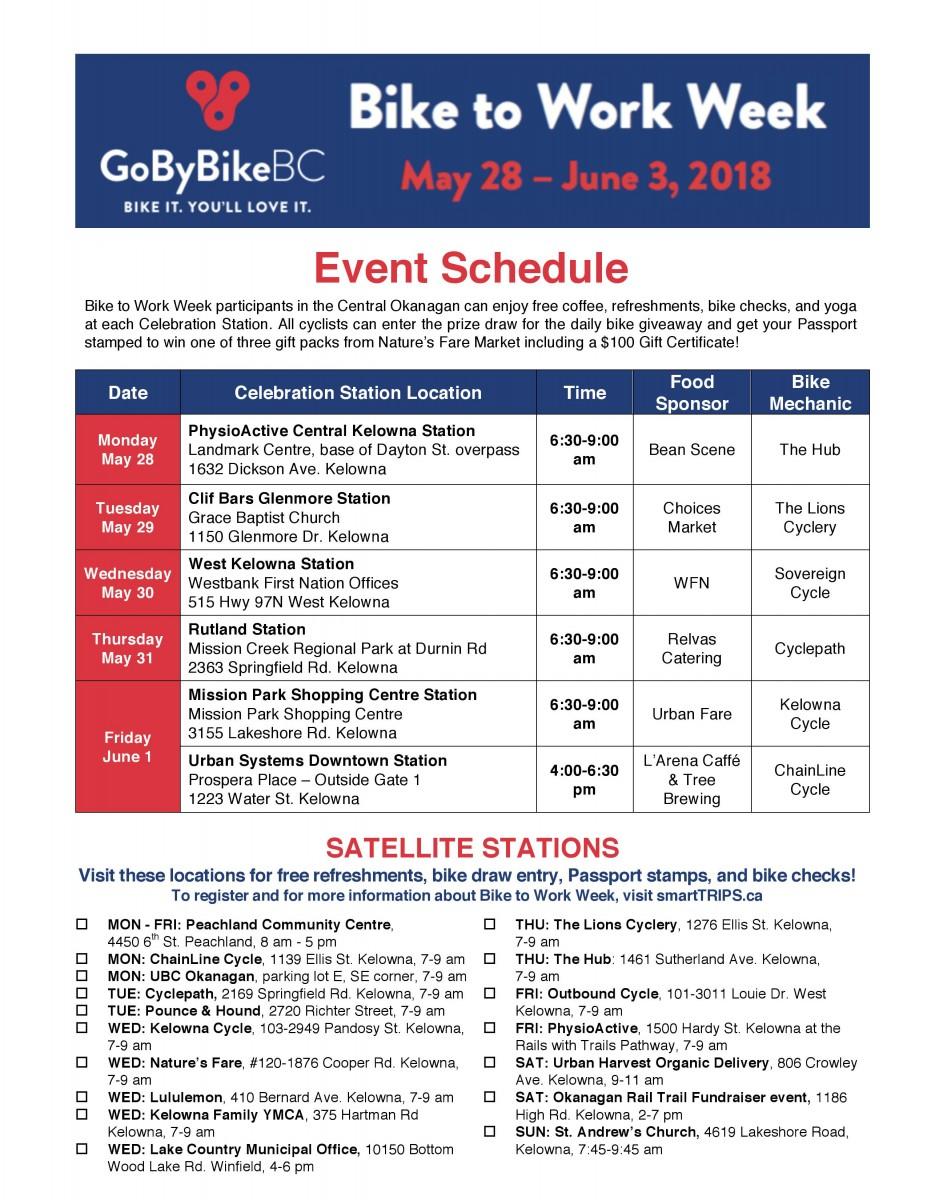 Event Schedule Smarttrips