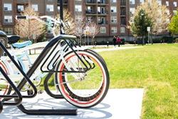 bike in bke rack